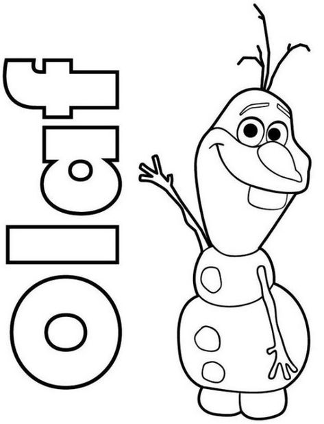 Printable Olaf Disney Frozen Coloring Pages Kids Coloring Pages
