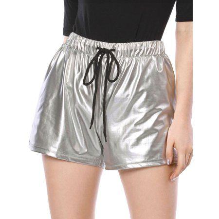 Clothing   Metallic shorts, Women, Fashion