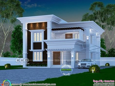 4 Bedroom 2060 Sq Ft Arabian Style Home Design House Balcony Design Kerala House Design Small House Front Design