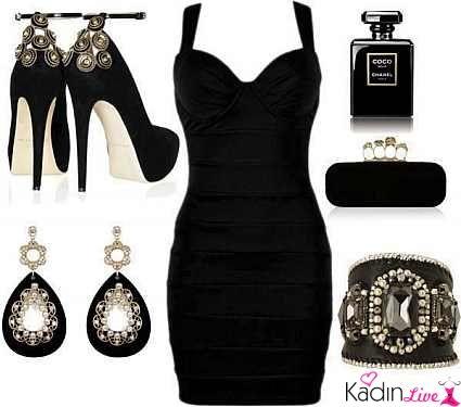 Siyah Dar Kesimli Elbise Ayakkabi Kupe Canta Kombinleri Kadinlive Com Siyah Kisa Elbise Stylish Eve Mini Elbise