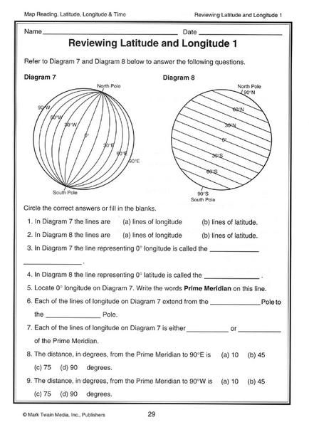 Image result for latitude and longitude worksheets | 2nd ...
