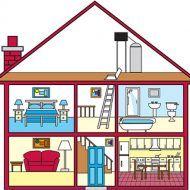 Dibujo de una casa con todas sus partes en 2020 Dependencias de la casa Partes de la casa Dibujos de casas infantiles