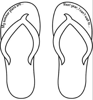 Flip Flops Flip Flop Craft Clip Art Coloring Pages