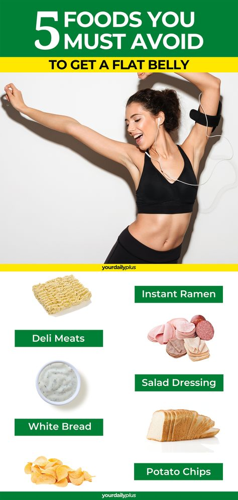 For a flat tummy and weight loss you MUST avoid these 5 foods!