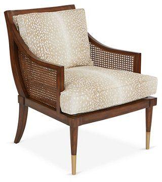 Kirkwood Accent Chair Fawn Linen