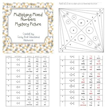 This Worksheet Is A Fun Way For Students To Practice Their Skills With Multiplying Mixed Numbers The Ac Multiplying Mixed Numbers Mixed Numbers Math Resources