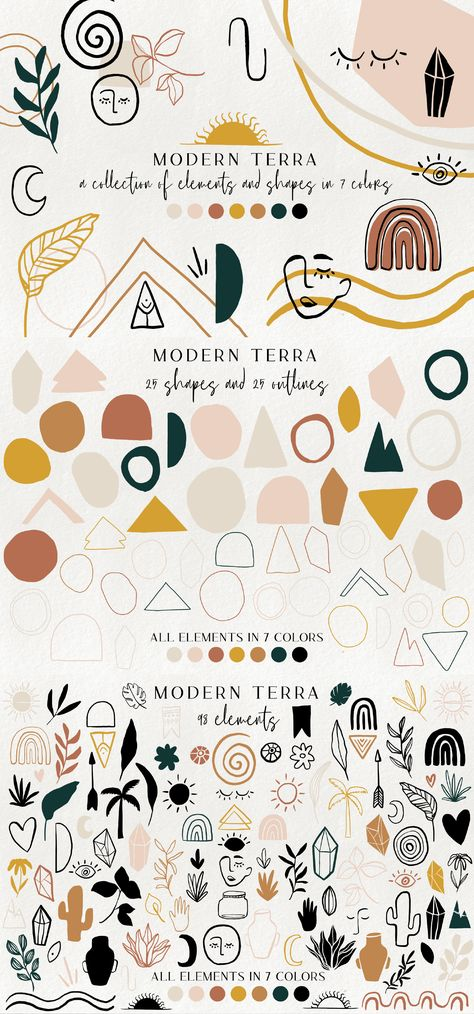 modern abstract design elements - floral illustrations, geometric clipart, terracotta minimalist branding graphics, shapes, crystals Best Picture For japanese Graphic Design For Your Taste You ar Shape Design, Pattern Design, Blog Design, Web Design, Portfolio Design, Japanese Graphic Design, Geometric Graphic Design, Minimalist Graphic Design, Minimalist Pattern