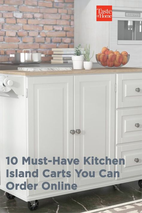 Add some extra storage and workspace to your kitchen with one of these handy kitchen island carts.