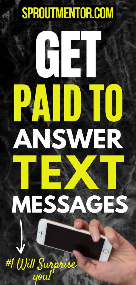 Extra Income Ideas From Home-Get Paid To Text