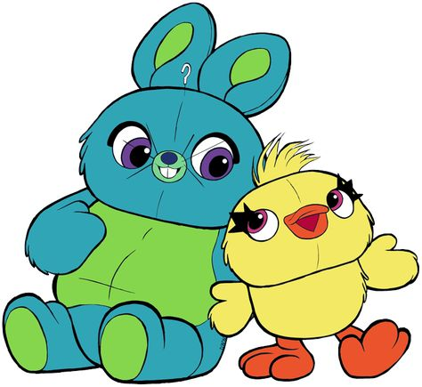 Clip Art Of Bunny And Ducky From Toy Story 4 Bunny Ducky