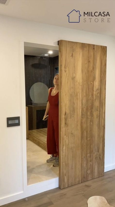 The MAGIC 2 is a wall mount sliding system for wood doors weighing up to 176 lbs (80 kg) each. This unique concealed hardware and running track create the illusion that the door is floating.