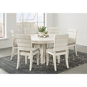Crestwood Creek Off White 7 Pc Round Dining Room 1077 0 Find