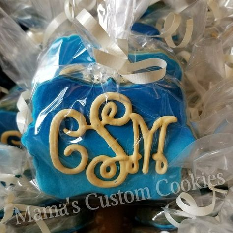 These ombre monogram cookies are a beautiful favor for that special someone or special event.  Contact Mama today to discuss your custom cookie needs 516-987-8296.  Never a minimum order required and we ship anywhere in the USA.  #ombre #monogram #dessert #desserttable #favors #delish #follow #fun #giftidea #cookies #cookiefavors #birthday #barmitzvah #batmitzvah #sweet16 #wedding #weddingcookies #anniversary #airbrush #anniversaryfavors  #picoftheday #customcookiefavors #mamascustomcookies
