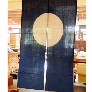 Japanese Noren Moon In A Azure Sky Curtains Noren Curtains