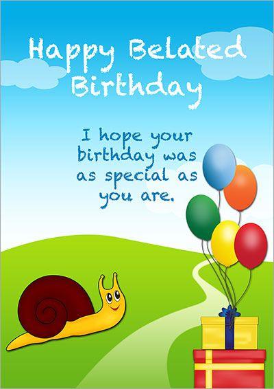 Printable Belated Birthday Cards Belated Birthday Card Belated Birthday Birthday Card Printable
