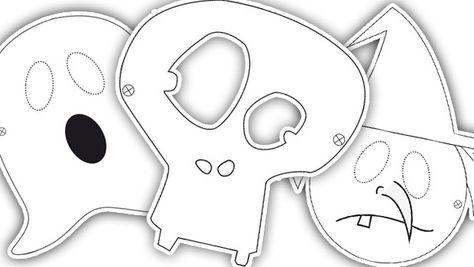 Halloween : des masques effrayants à télécharger, imprimer et colorier ! Qui fera le plus peur ?