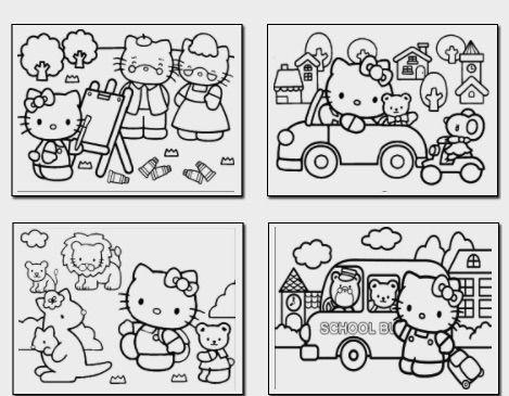 10 Mini Coloring Book Ideas Hello Kitty Colouring Pages, Kitty Coloring,  Hello Kitty Coloring