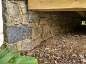 Why We Re Fixing Our Stone Foundation With Hydraulic Lime Mortar In 2020 Foundation Repair Exterior Stone Stone