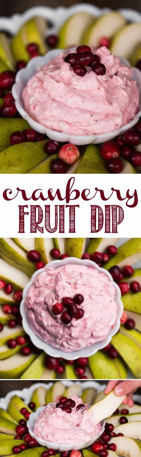 Cranberry Fruit Dip, made from leftover homemade cranberry sauce and cream cheese, is the perfect party appetizer during the winter holidays. #fruitdip #cranberry #cranberrysauce #withcreamcheese #easy #recipe #best #christmas #holiday #party #thanksgiving