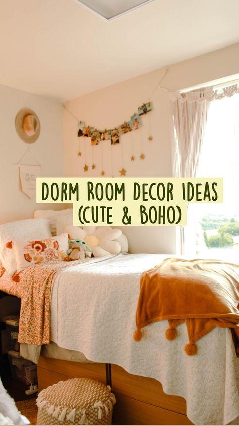 Dorm Room Decor Ideas (cute & Boho)
