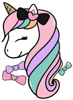 Unicorn Clip Art Fabulous Majestic Unicorn Sticker Colorful Etsy