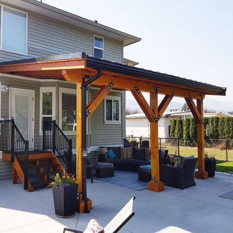 Traditional Home Wood And Metal Cool Patio Roof Design Ideas patio des., Traditional Home Wood And Metal Cool Patio Roof Design Ideas patio designs covered Though ancient inside strategy, the actual pergola have been encountering a. Pergola With Roof, Outdoor Pergola, Backyard Pergola, Pergola Plans, Pergola Kits, Modern Pergola, Backyard Covered Patios, Covered Patio Diy, Covered Decks