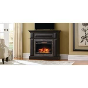 Real Flame Thayer 54 In Electric Fireplace In Gray 5010e Gry Electric Fireplace Fireplace Console Fireplace Seating