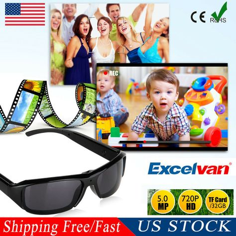 Mini HD Spy Camera Glasses 1080P Hidden Sunglasses Cam Eyewear DV DVR US STOCK