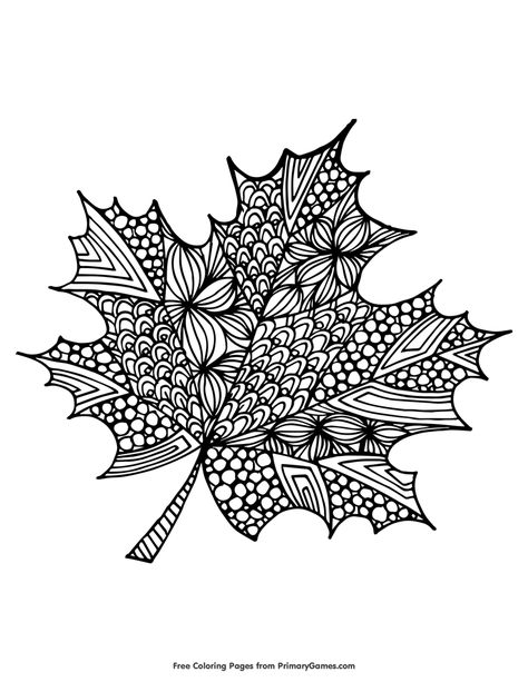 Maple Leaf Coloring Page Free Printable Ebook Fall Coloring