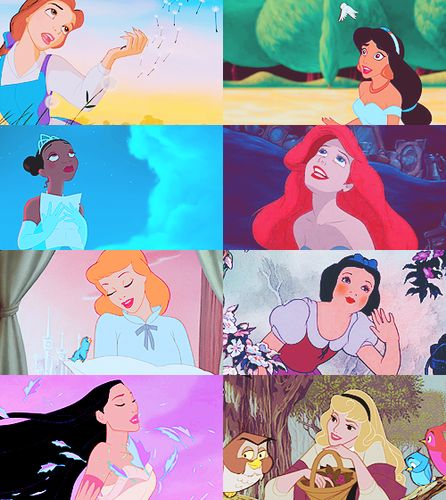 Childhood Animated Movie Heroines Photo: They can't order me to stop dreaming
