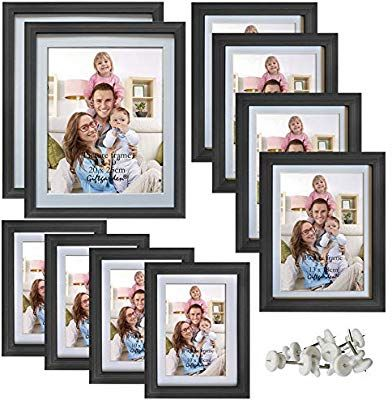Giftgarden Picture Frames 4x6 Black Photo Frame Set For Wall Or Tabletop Pack Of 12 Amazon In 2020 Multi Picture Photo Frames Multi Picture Frames Picture Frame Sets