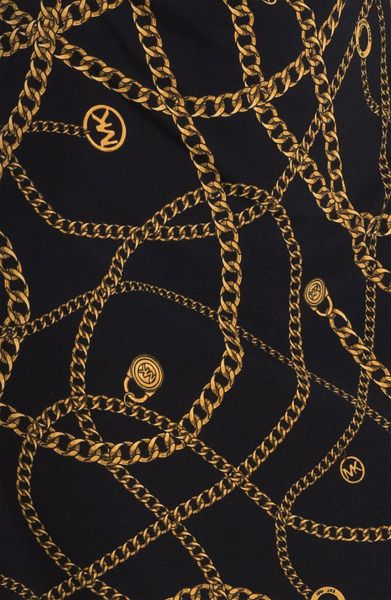 Michael Kors Gold Chains Print Gold Chain Wallpaper Iphone