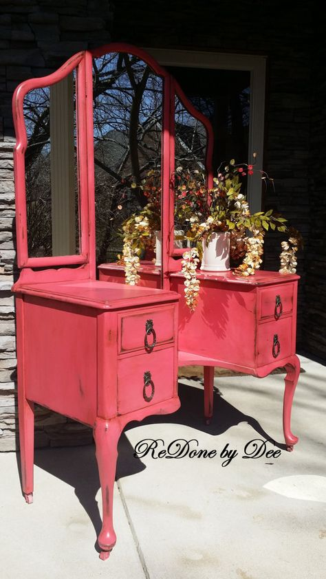 Request a Customized Vanity Dressing Table by ReDonebyDee on Etsy