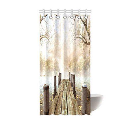Fashion Tree Camo Metal Browning Waterproof Bathroom Fabric Shower Curtain,Bathroom decor 36 x 72