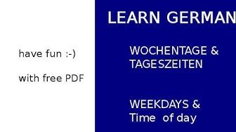 Freegermanlessons Youtube Learn German Have Fun Learning