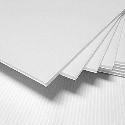 4mm Corrugated Plastic Sheets 14 X 22 10 Pack 100 Virgin White Corrugated Plastic Sheets Corrugated Plastic Plastic Sheets
