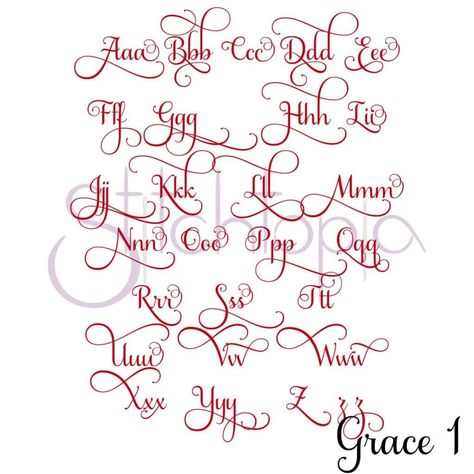 Stitchtopia Grace 1 Monogram Set