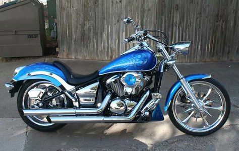 Blue Customized Vulcan 900 Custom Sweet Kawasaki