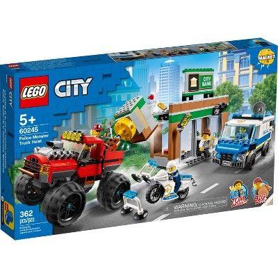 Lego City Police Monster Truck Heist Building Set For Kids 60245 In 2021 Lego City Police Lego City Monster Trucks
