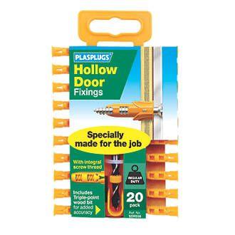 Plasplugs Hollow Door Fixings 6 X 20 Pack Plastic Screwfix Com Packing Doors Security Safe