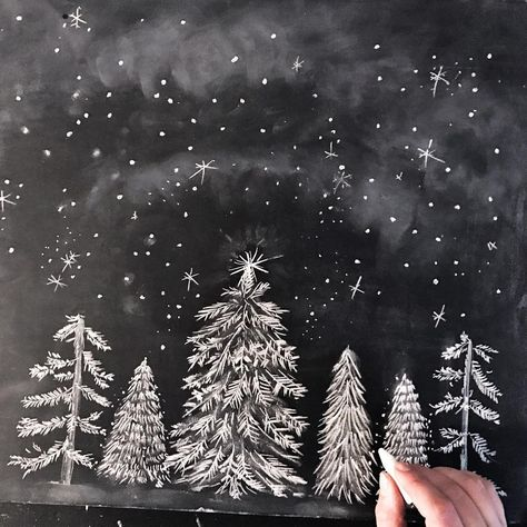 Outstanding Chalk Art Ideas Creative Christmas Chalkboard Art Ideas Picture 14 Awesome Indoor throughout Outstanding Chalk Art Ideas Chalkboard Doodles, Blackboard Art, Chalkboard Drawings, Chalkboard Lettering, Chalkboard Designs, Chalk Drawings, Chalkboard Clipart, Chalkboard Ideas, Art Drawings
