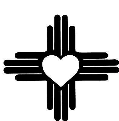 New Mexico Heart Vinyl Decal Zia Sun Symbol State Flag Love Nm Sticker Emblem Vinyl Decals New Mexico Tattoo Sticker Bomb