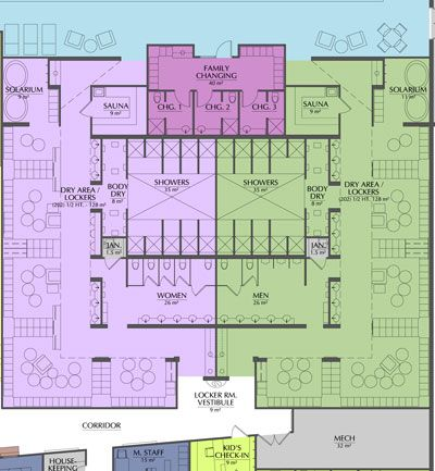 Locker Room Floor Plan Showing Circulation And Adjacent Areas. Image  Courtesy Of Essenza Architecture. | Human Factors Final | Pinterest |  Lockers, ...