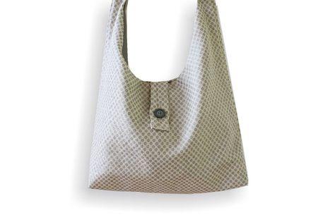 Tasche Schultertasche creme Pünktchen KLEIDZEIT  von kleidzeit ® auf DaWanda.com