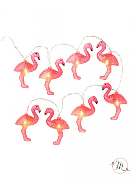 8 luci decorative fenicotteri. 8 lucine per decorare la vostra location, realizzare un originale centrotavola o addobbare pareti ed alberi.  Con batteria. Misura: 1.5 mt. In #promozione #matrimonio #weddingday #wedding #ricevimento #insegne #decorazioni #luci #banner #illuminatedsigns #decorations #lights #bar #decorazioniluminose #nozze #fenicotteri #fenicotterirosa #flamingo #flamingos