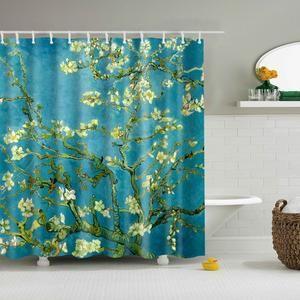 Van Gogh Almond Blossom Shower Curtain Bathroom Decor Fabric