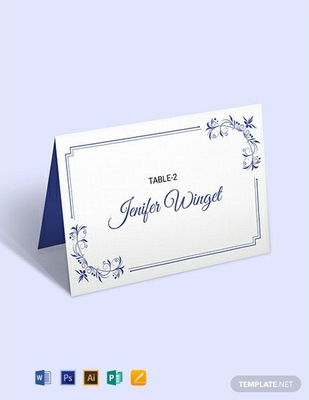 Free Delicate Lace Place Wedding Place Card Template Word Doc Psd Apple Mac Pages Illustrator Publisher Free Place Card Template Wedding Place Card Templates Place Card Template