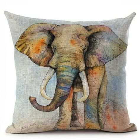 US SELLER lucky elephant animal cushion cover decorative throw pillow covers