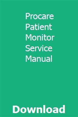 Procare Patient Monitor Service Manual Repair Manuals Repair Sewing Machine Service