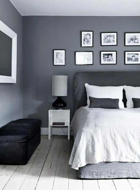 Wandfarbe Grau Fur Eine Harmonische Und Moderne Wandgestaltung Schlafzimmer Alpina Passt Ideen Kinderzimmer Wohnzimmer Kuche Du Gray Bedroom Walls Black Grey Bedroom Grey Walls
